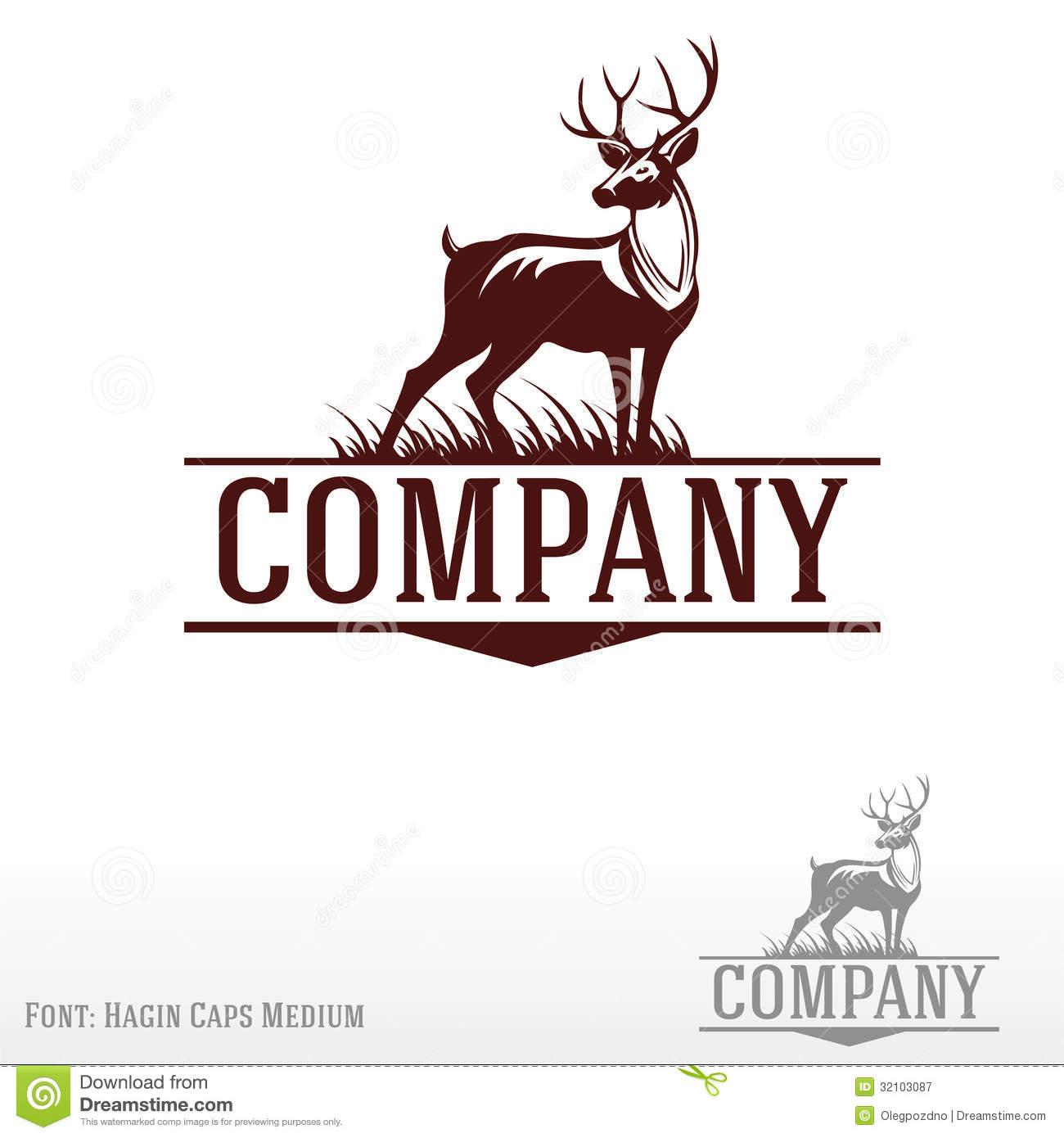 Dear clipart cute deer Royalty Free Logo Deer Stag