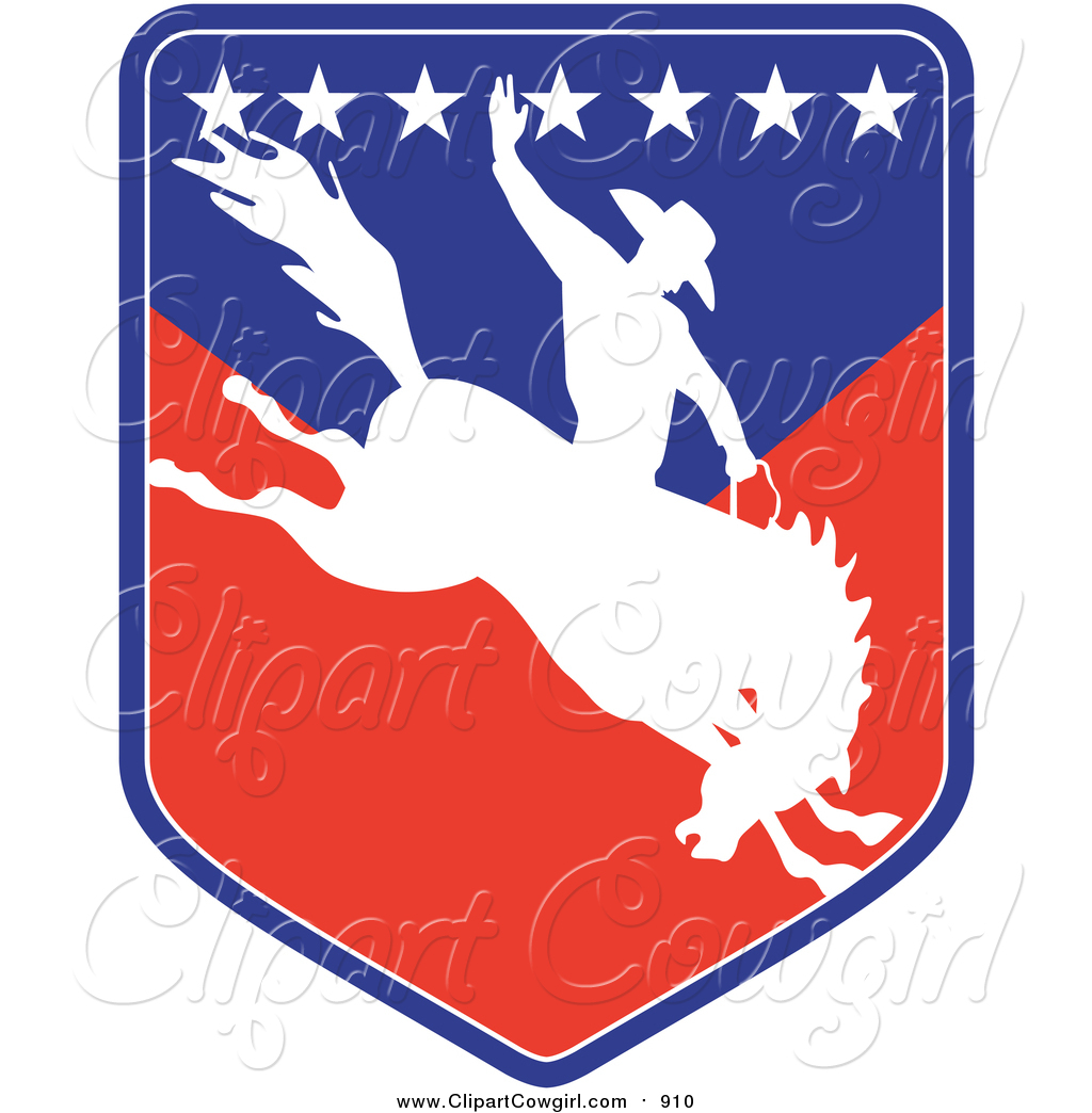 Company Logos clipart shield Royalty White Rodeo of Silhouetted