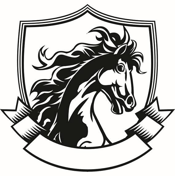 Company Logos clipart shield Horse Printable Banner SVG Scrapbook