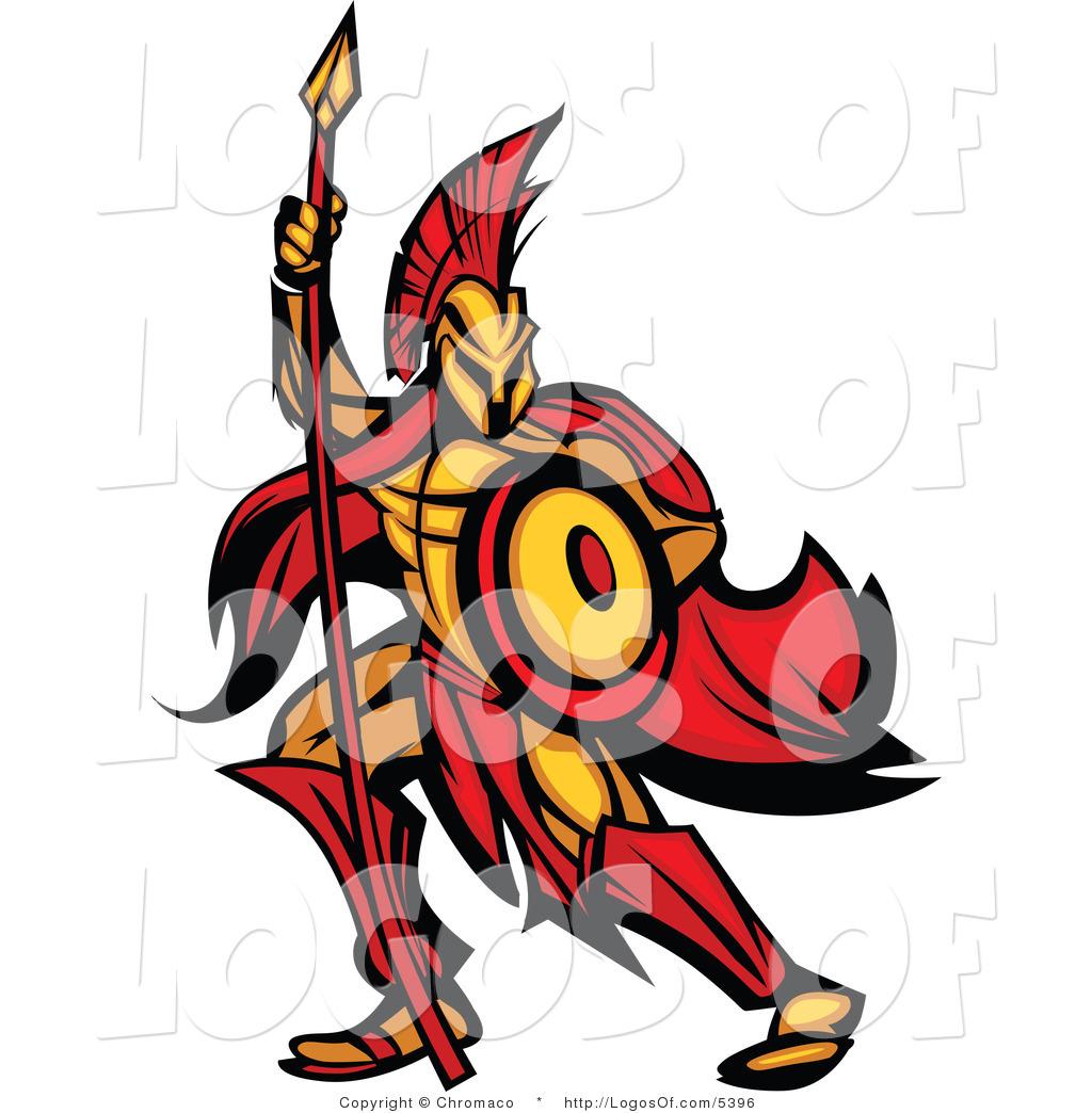 Company Logos clipart shield Company Spartan with Warrior Logo