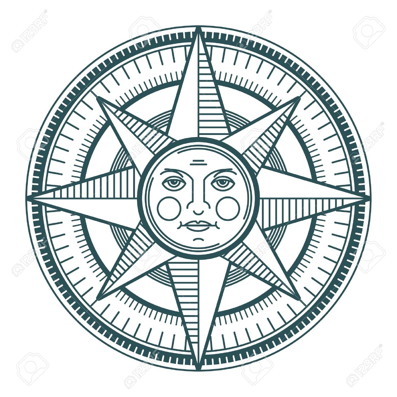 Drawn compass old world Free Vectors Compass And Vintage