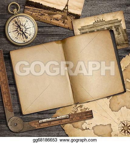 Compass clipart adventure Vintage with vintage map Adventure