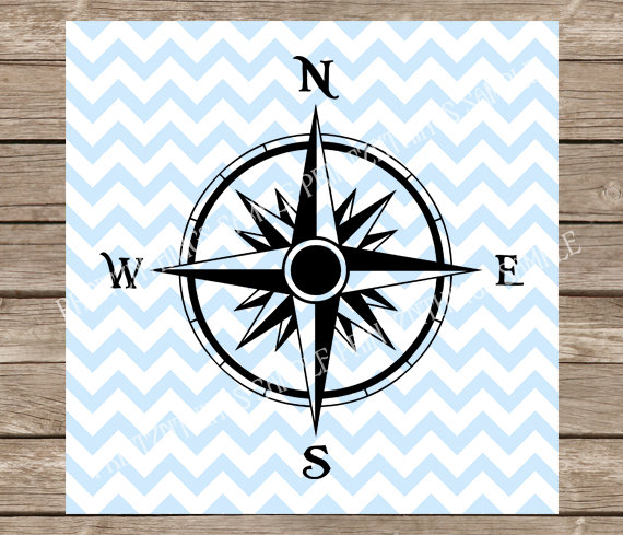 Compass clipart adventure Nautical Silhouette File Cameo svg