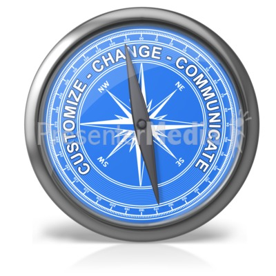 Compass clipart animated Text Art PowerPoint Recreation for