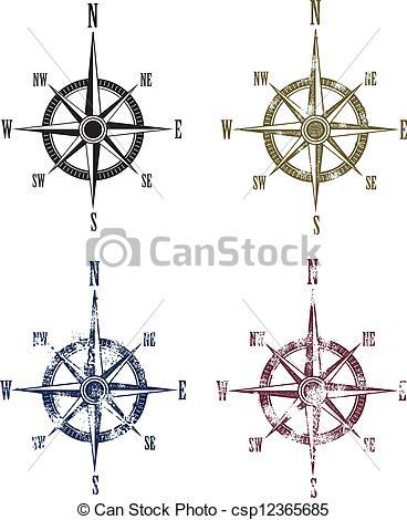 Compass clipart antique compass Rose Vintage Compass Rose Vintage
