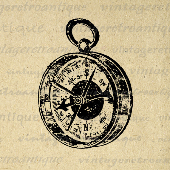 Compass clipart antique compass Graphic Graphic Clip Art Vintage