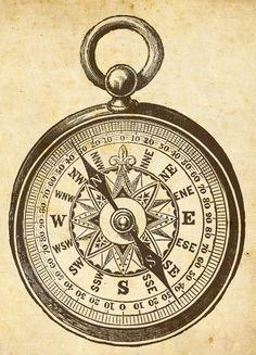 Compass clipart artsy Quotes Nautical art Google Magpie's