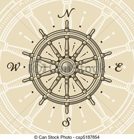 Drawn compass detailed Wheel Wheel EPS Clipart Illustrations