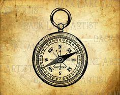 Compass clipart artsy Rose Illustration Image Art L414