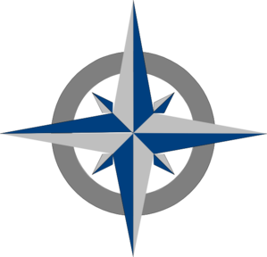 Compass clipart blue Grey at New Grey vector