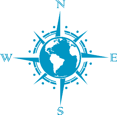 Compass clipart blue  and Globe compass Globe