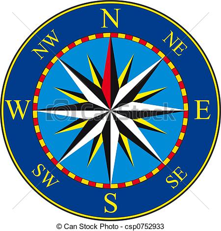 Compass clipart blue  Blue of Compass on