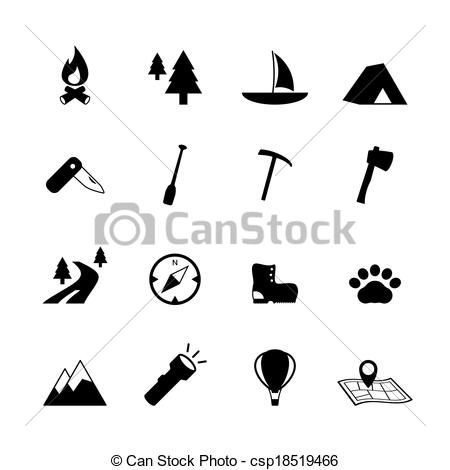 Compass clipart camp Collection pictograms tourism Outdoors Art
