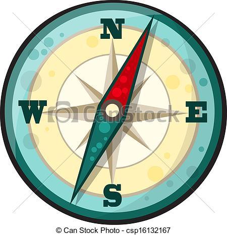Compass clipart cartoon Vector of Art illustration Clip