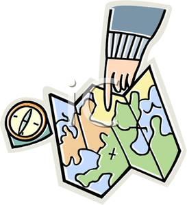 Compass clipart map Next Clipart Hand a a