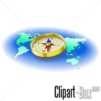 Compass clipart map Vector clipart COMPASS Royalty AND