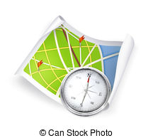 Compass clipart map Royalty Compass Map Clip Compass