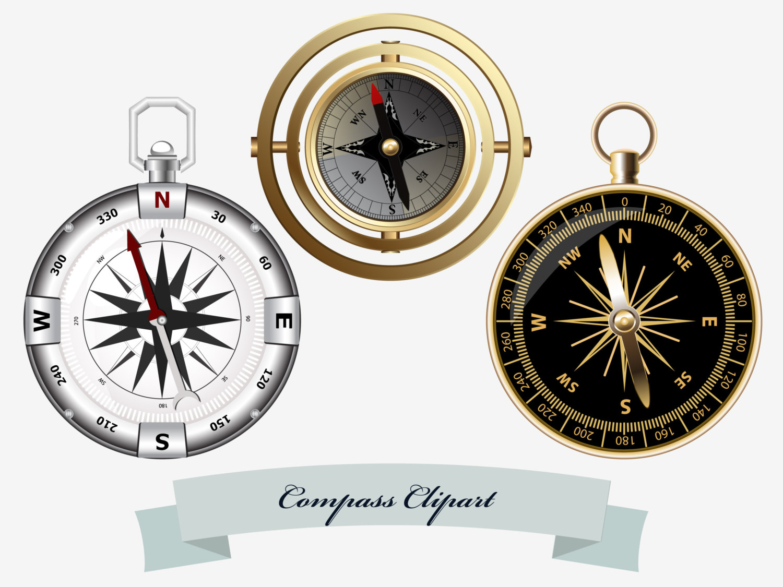 Compass clipart marine Marine compass art  Compass