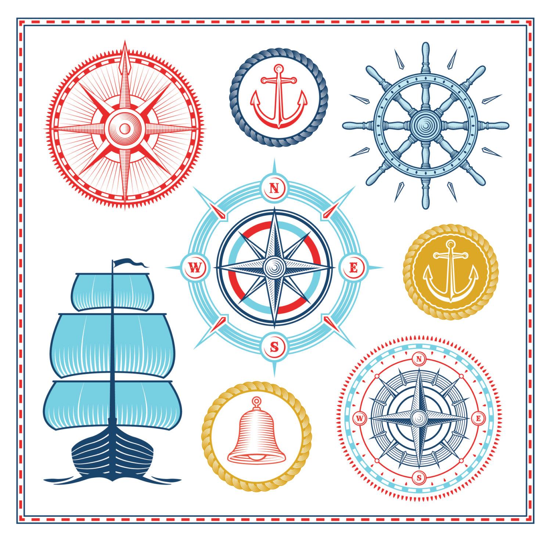 Compass clipart marine Design Vector Clip  Nautical
