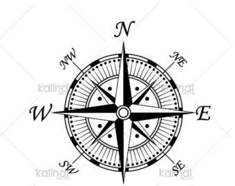 Compass clipart marine Download instant marine Etsy file
