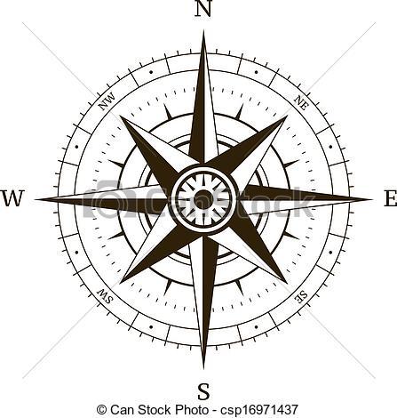 Drawn compass navigational Csp16971437 Navigation rose Compass rose