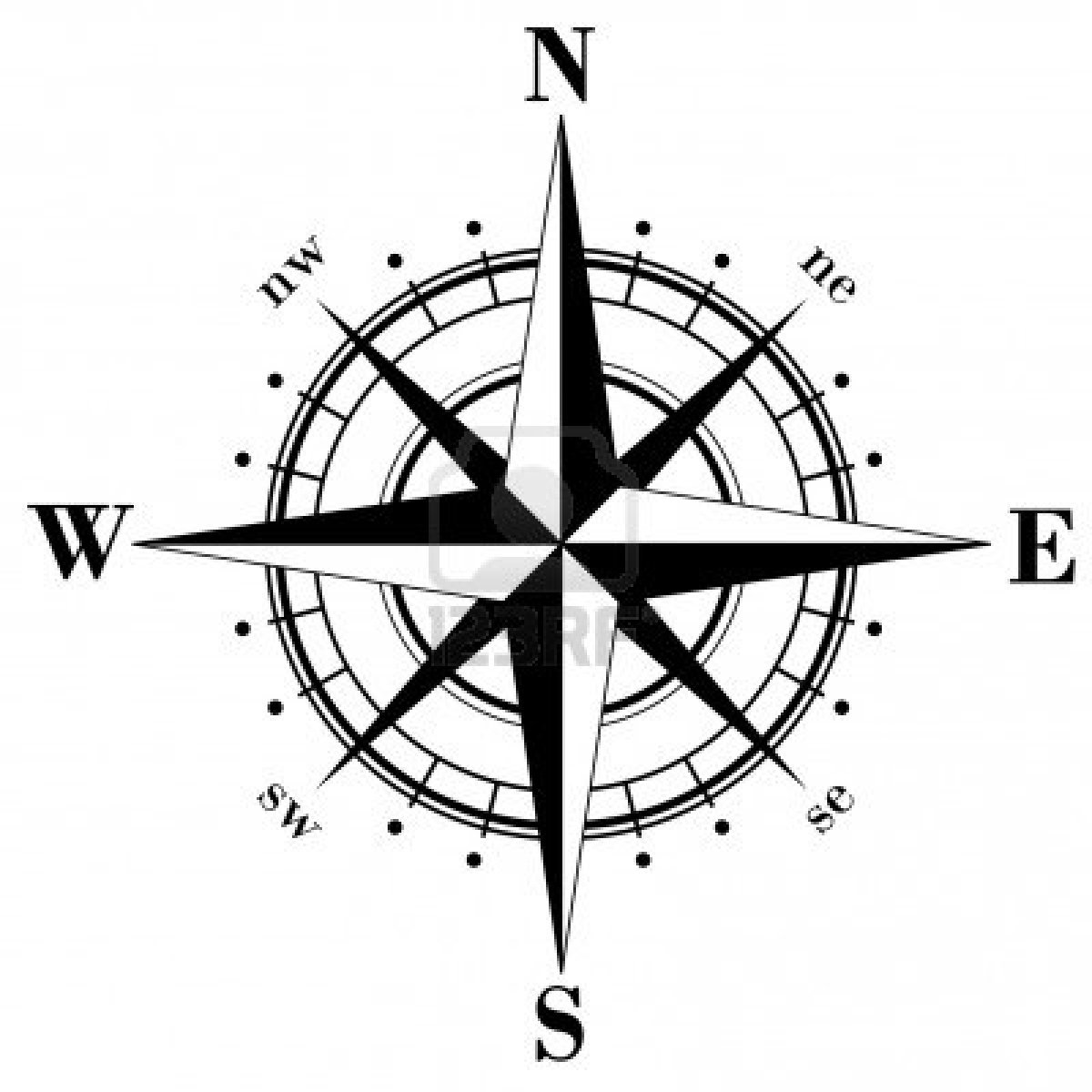 Drawn compass navigational Library Sky on Free Vulcan