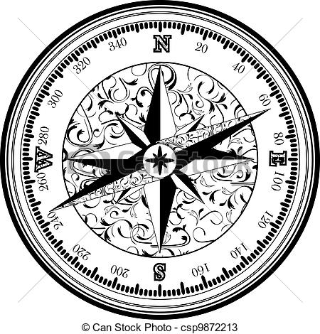 Compass clipart old fashioned Compass in compass Vinatge of