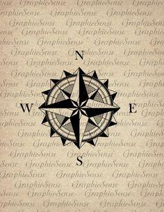 Compass clipart old time Compass Art Clipart Sheet Digital