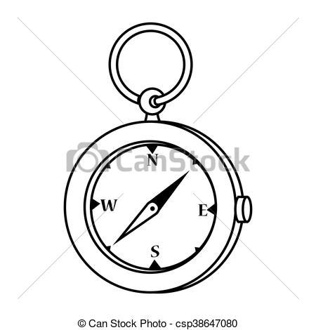 Compass clipart orienteering Illustration csp38647080  Compass design