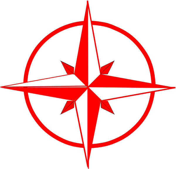 Compass clipart red Image at as:  vector