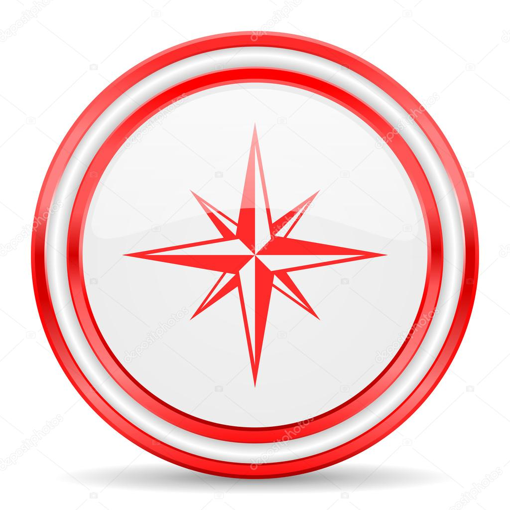 Compass clipart red White Image glossy #46771945 —