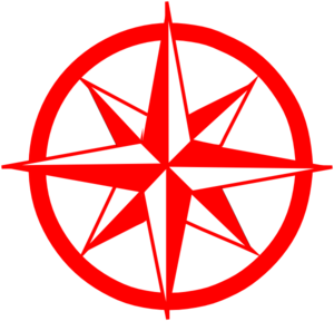 Compass clipart red Clip at Art  vector