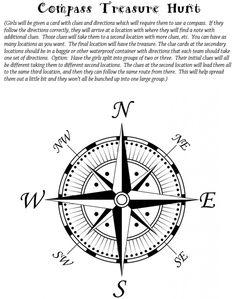Compass clipart scavenger hunt Compass Large compass activity Art