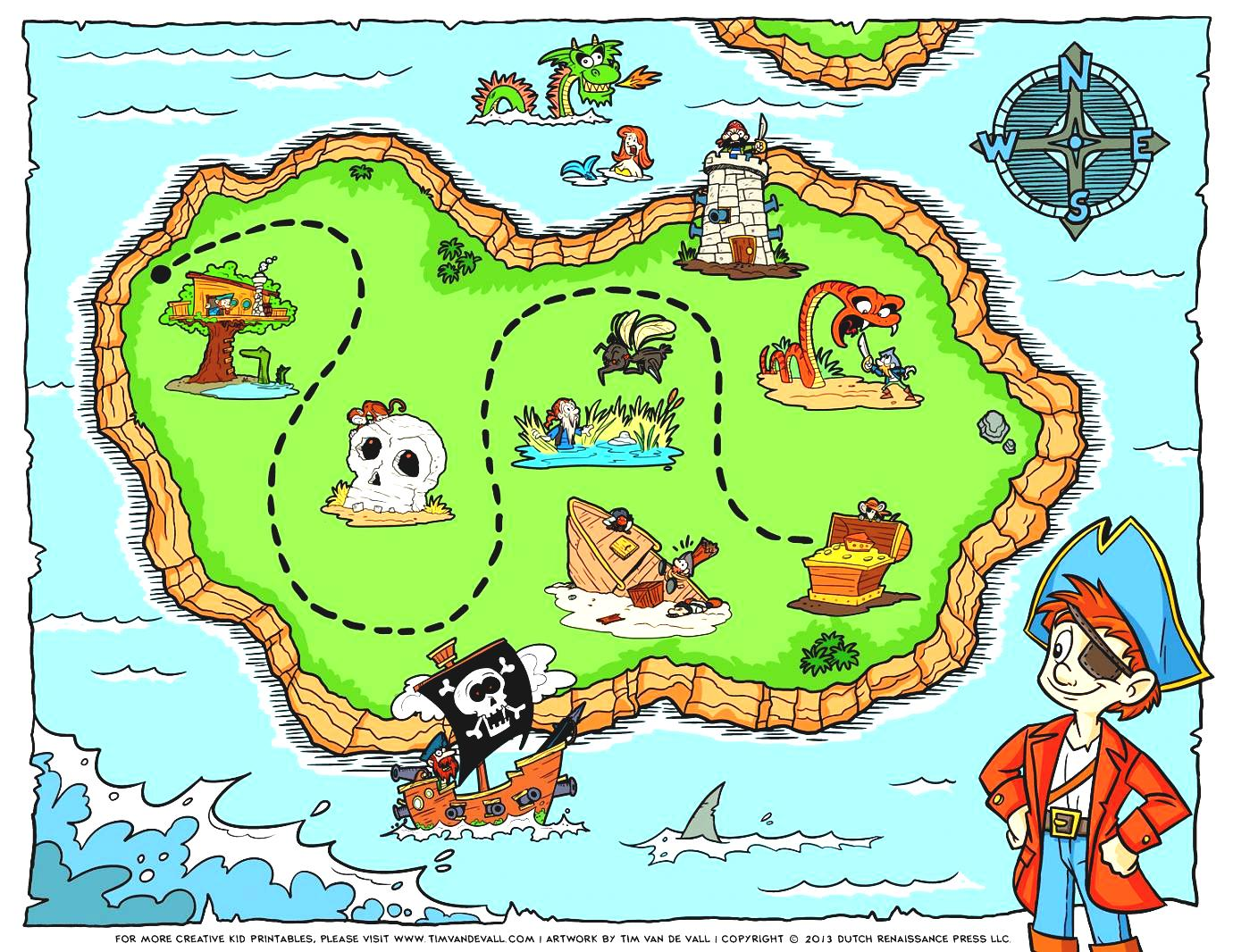 Compass clipart scavenger hunt Hunt Map Party Free Free