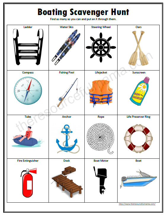 Compass clipart scavenger hunt For learn way scavenger Boating