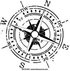 Compass clipart sketch Pinterest compass & vientos rose