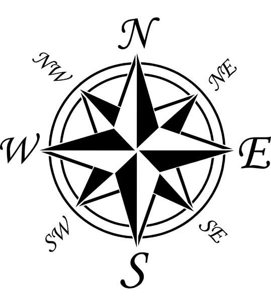 Compass clipart sketch Rose Clip  Free Free
