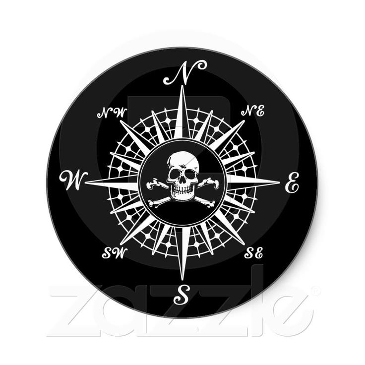 Compass clipart skull Skull Round on Treasure 1