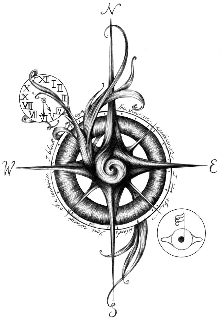 Drawn compass simple black 080 jpg d6ac71p  740×1