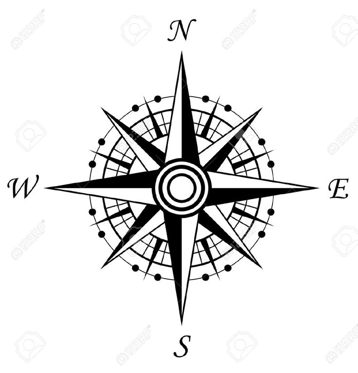 Compass clipart symbol Free Design For On White