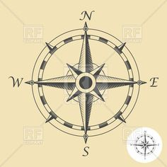 Compass clipart traditional #4