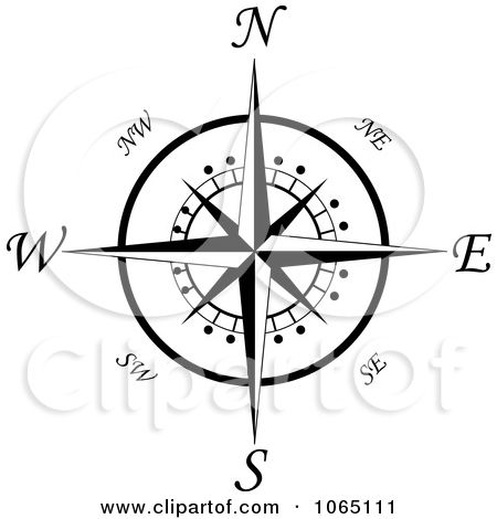 Compass clipart traditional #6