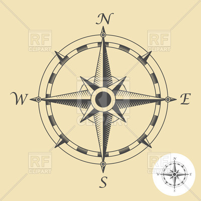 Compass clipart traditional #3