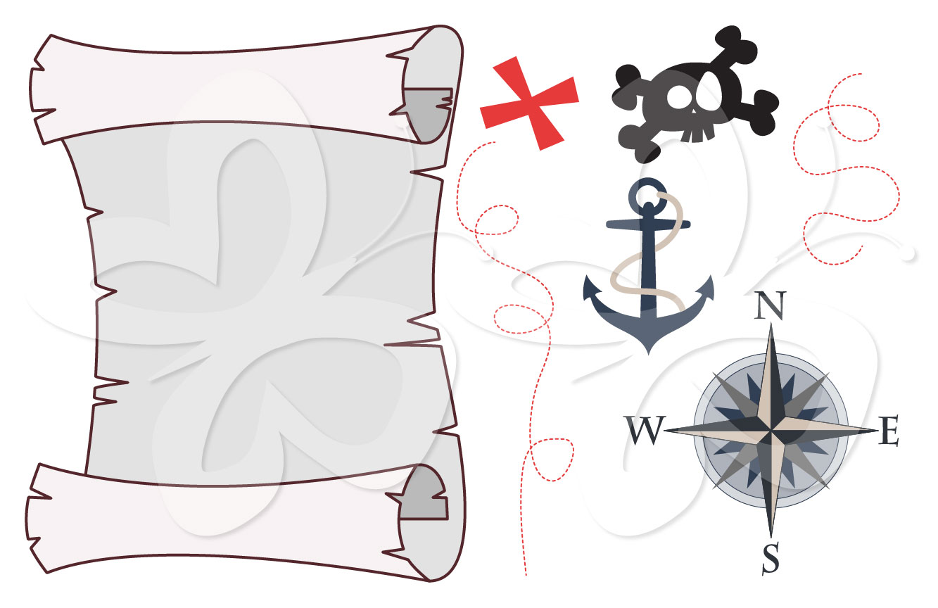 Compass clipart treasure map Set Clipart Map map preview