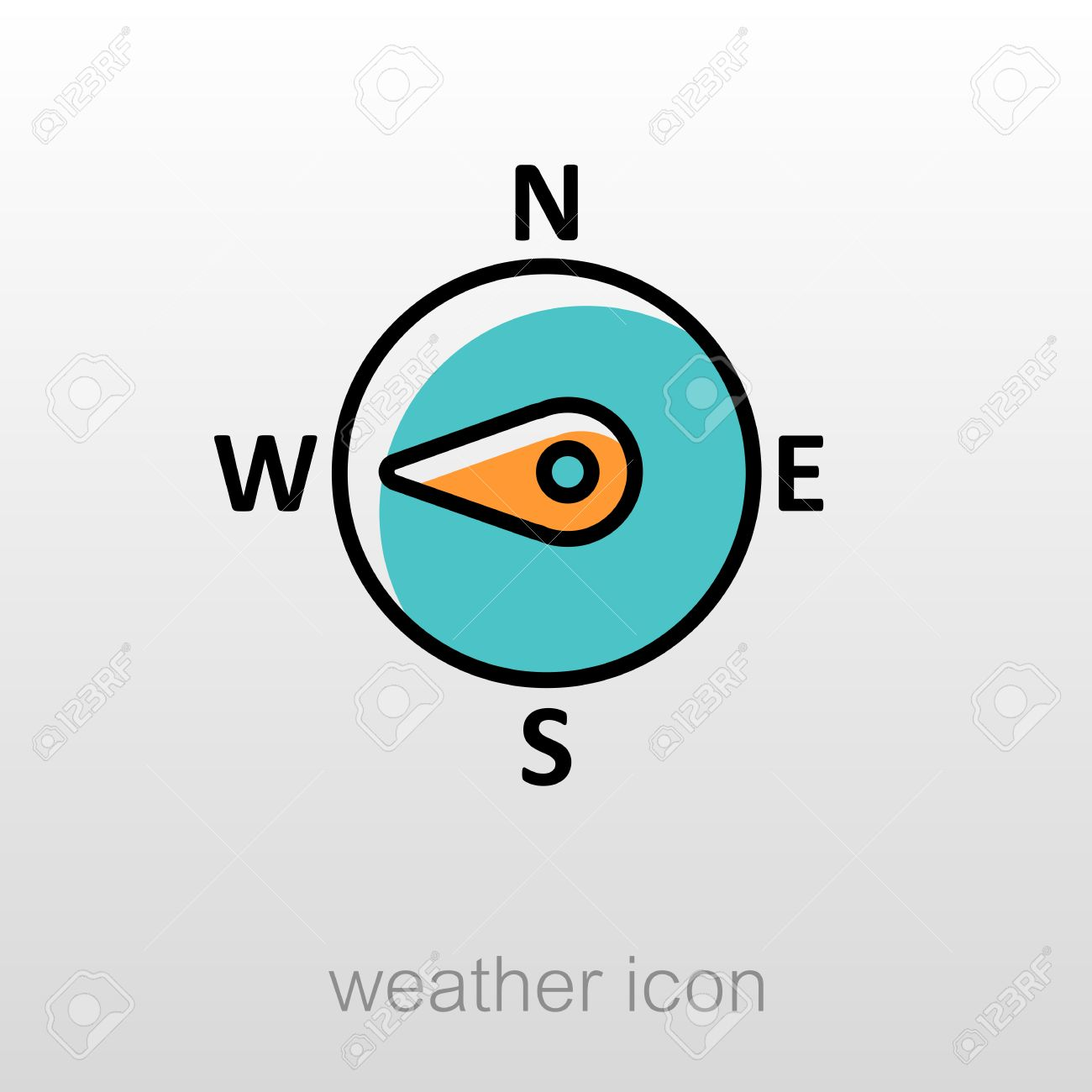 Compass clipart west Outline Compass West outline Wind