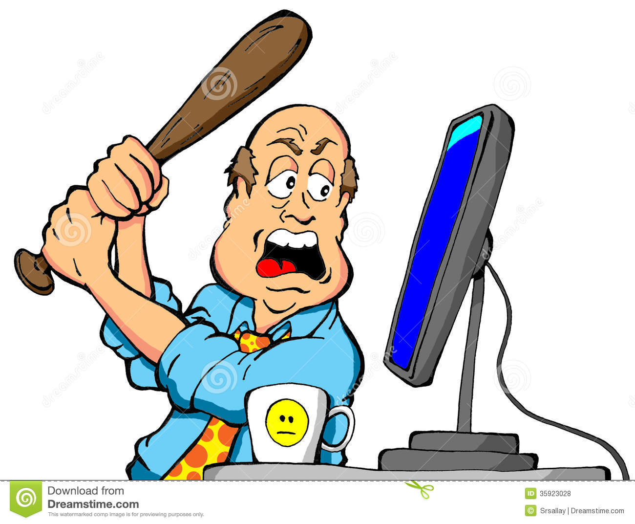 Anger clipart animated Frustrated guy Clipart clipart computer