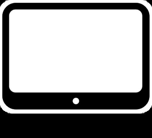 Display clipart black and white White white 7 white black