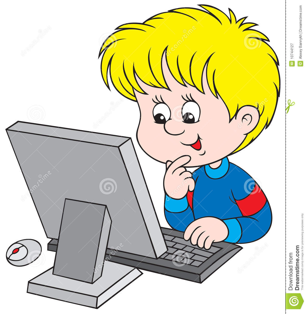 Boy clipart computer Clipart kids kids clipart with