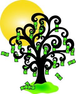 Money clipart money tree Clipart Tree Image: Money Tree