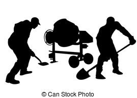 Concrete clipart On workers white workers Stock